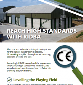 CE Marking Campaign – RIDBA Strives for the Highest Standards